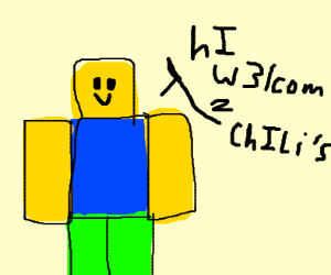 roblox noob says hi welcome to chilis