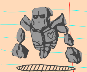 floating legless rock golem