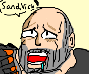 TF2 Heavy doing the face we all know