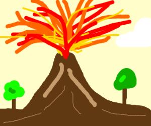 Volcanic eruption!