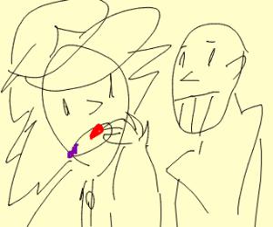 Ash eats infinity stones