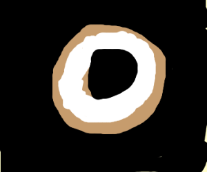 cream cheese bagle in a void
