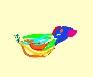 Multi-coloured duck