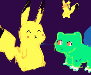 Pikachu likes bulbasour and not another pikac