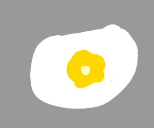 Scrambled eggs representing an eye