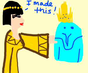 Cleopatra creating the Ice king