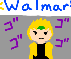 Dio enters Walmart menacingly