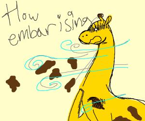 giraffe's spots falling off