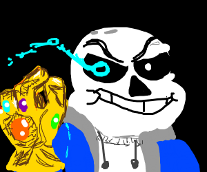 Sans with the Infinity Gauntlet