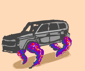 car with tentacles that move it