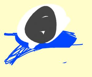 A seahorse fishing