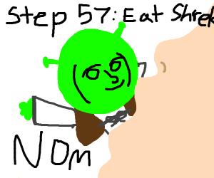 Step 56: Cover Shrek in a honey