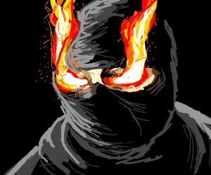 Ninja with fire eyes!