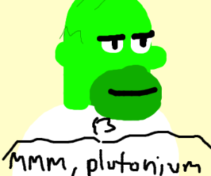 Homer Simpsons, But He's Green