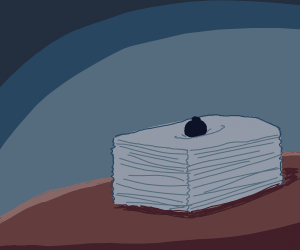 Stack of papers on a table