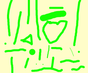 Abstract art made using the color green
