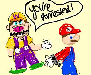 Wario arrests Mario