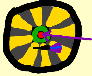 Middle of a dartboard???
