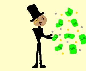 Making money rain