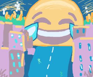 beware with laughing emoji