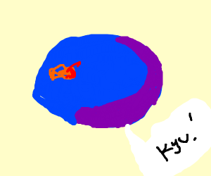 """weird planet in the cosmos says """"kyu"""