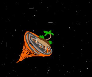 island in a wormhole
