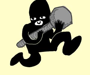 Criminal steals bolt