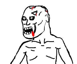 shirtless zombie
