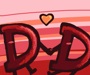 A couple of Drawception Ds in love