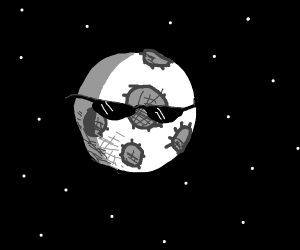 moon with sunglasses