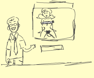 Scary teacher shows NSFW Stuff in class