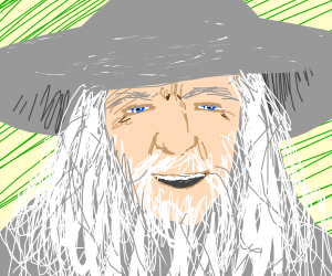 happy gandalf