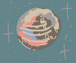 An abandoned planet