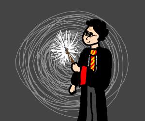 Wizard casting Lumos