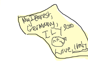 Germany gets a letter from italy