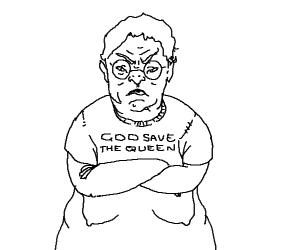 Angry British Grandma