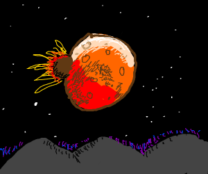 The Super Blood Moon got hit by an asteroid!