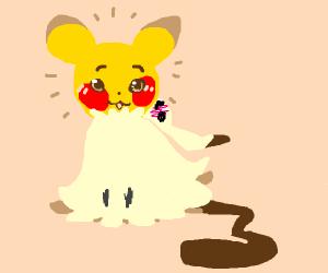 Pikachu in a Mimikyu Costume