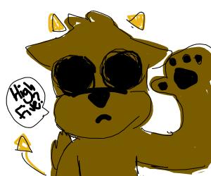 Demon eyeless puppies high five