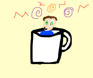 guy going crazy in a mug
