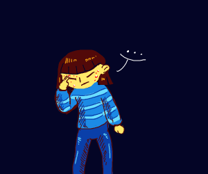 Frisk as a teenager