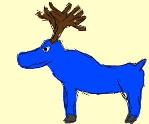 Babe the blue ox but instead it's a moose