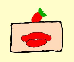 Strawberry lipcake