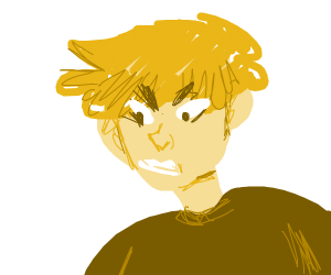 angry blonde man