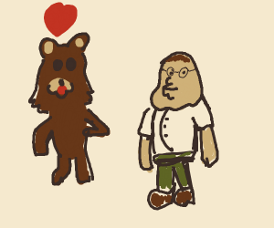 Ped0bear mistakes Peter Griffin for a child
