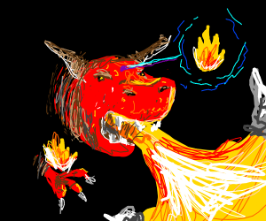 Fire bending dragons