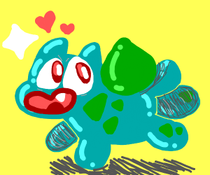 Adorable shiny bulbasaur