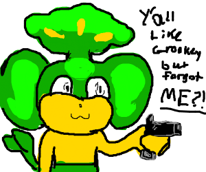 Pansage with a gun