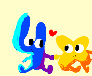 Four and X! (BFB and it's really cute!)