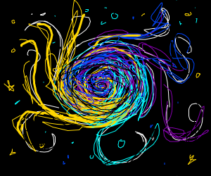 swirly thing in the night sky